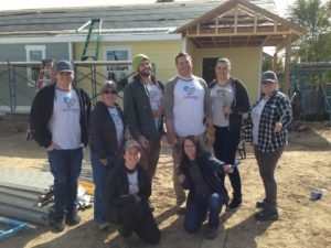 Habitat for Humanity volunteers at Harmony Cottages in Fort Collins