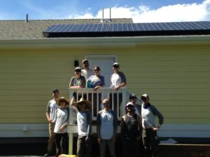 Harmony Cottages volunteers from Namasté Solar