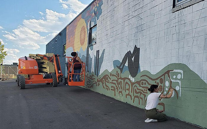 Sun Valley mural in progress