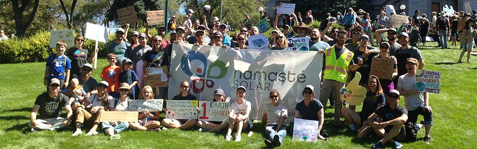 Namasté Solar at the Denver Climate Strike